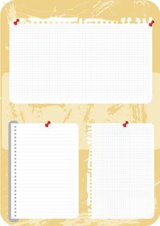 Free Blank Notes  Illustration Royalty Free Stock Photo - 25823585