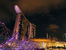 Free The Marina Bay Waterfront Royalty Free Stock Photos - 25825288