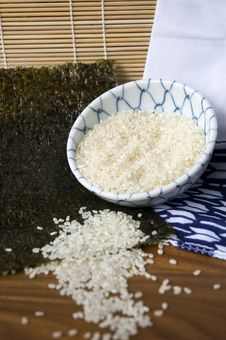 Free Japanese Rice In Bowl Stock Image - 25826011