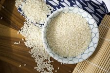 Japanese Uncooked Rice In Bowl Royalty Free Stock Images