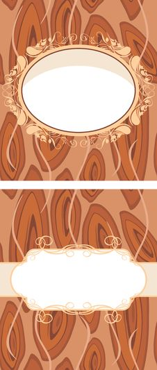 Free Ornamental Frame On The Brown Abstract Background Stock Photos - 25828533