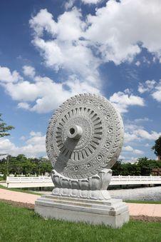 Free Carved Stone Dhammajak Stock Photo - 25828680