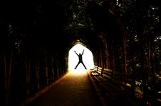 Free Tunnel And Bouncing Young Stock Photo - 25829570