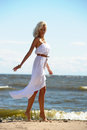 Free Blonde In A White Dress Stock Photo - 25836030