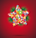 Free Christmas Star And New Year Royalty Free Stock Photos - 25838728
