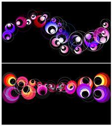 Free Colorful Circles Horizontal Banner. Stock Photos - 25835563