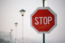 Free Stop Road Sign Stock Images - 25836184