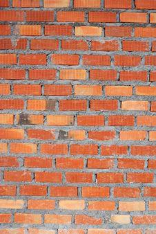 Free Clay Brick Wall Stock Photography - 25837932