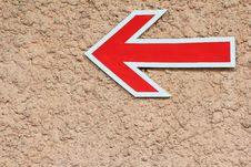 Free Red Arrow Sign, Left Direction Stock Images - 25838174
