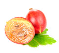 Free Whole Gooseberry And Gooseberry Cut In Half Stock Image - 25841941