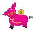 Free Piglet Piggy Bank. Stock Photography - 25843022