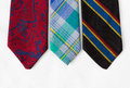 Free Neckties On White Cloth Stock Photography - 25845862