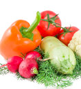 Free Background From Pepper, Tomatoes, Garden Radish Stock Photo - 25849720