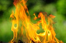 Free Burning Flames Stock Image - 25841681