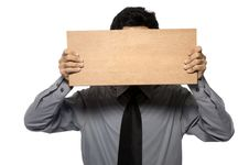 Free Holding Wooden Board Stock Photo - 25842220