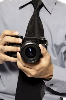 Shot With SLR Camera Stock Photography