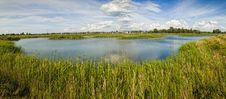 Free Rural Landscape Pond With Grass Stock Image - 25843551