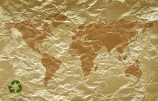 Grunge Paper With World Map