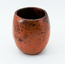 Ancient Cup From Ceramics Stock Image