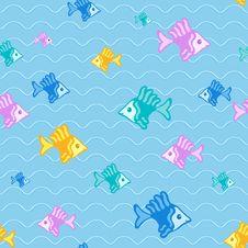 Free Fish Seamless Pattern Stock Image - 25845341