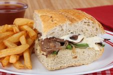 Free Roast Beef And Cheese Sandwich Stock Photos - 25847073