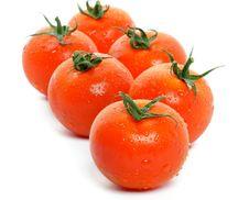 Free Arrangement Of Fresh Tomatoes Royalty Free Stock Photos - 25847278