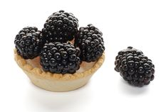 Free Cracker With Blackberries Royalty Free Stock Photo - 25847305