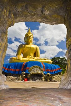 Big Golden Buddha Statue Stock Image