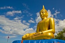 Free Big Golden Buddha Statue Royalty Free Stock Images - 25848529