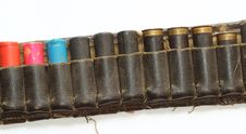 Free Old Hunting Cartridge Belt Royalty Free Stock Photography - 25849567