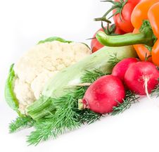 Free Tomato, Cauliflower, Vegetable Marrow Stock Photography - 25849722