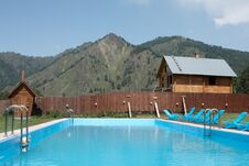 Free Pool In The Mountains Stock Photography - 25850212