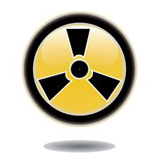 Free Sticker Radiation Hazard Symbol Royalty Free Stock Images - 25850239