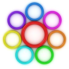 Rainbow Rings Stock Images