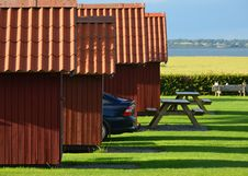 Free Holiday Cottages With Parked Car Stock Photography - 25853742