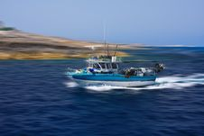 Free High Speed Fishing Boat Royalty Free Stock Photos - 25855058