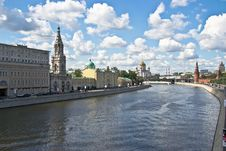Free Embankment Of The Moskva River Stock Photo - 25858890