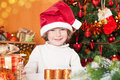 Free Happy Smiling Child In Santa`s Hat Stock Images - 25860564