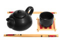 Free Chinese Tea Set With Teapot And Cup Royalty Free Stock Photos - 25863308