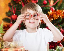 Free Boy Having Fun In Christmas Stock Photos - 25860963