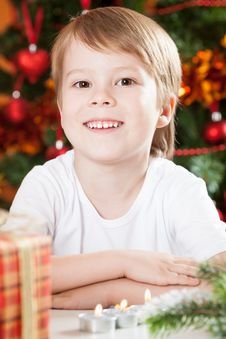 Free Smiling Boy In Christmas Royalty Free Stock Photo - 25861025