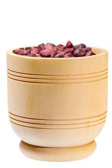Free Wooden Cup With Cedar Nuts Stock Photos - 25862623