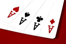 Free Four Aces Stock Images - 25863724