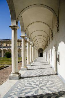 Free Portico At Certosa De San Martino Royalty Free Stock Images - 25867589