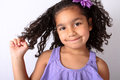 Free Little Girl Twirling Her Hair Stock Images - 25877214