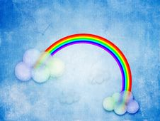 Free Abstract Rainbow Royalty Free Stock Images - 25873179