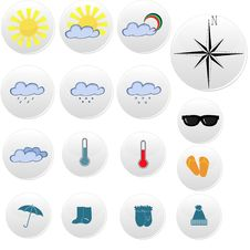 Free Weather Icons Royalty Free Stock Photos - 25874048