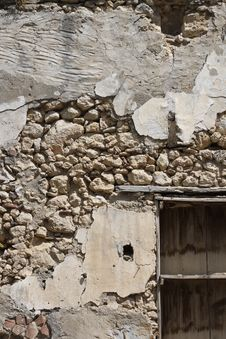 Old Stone Wall Construction Ruins Stock Photos