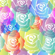 Free Seamless Colorful Roses Pattern Royalty Free Stock Photo - 25878095