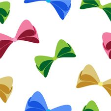 Free Colorful Bow Pattern Stock Photos - 25878143